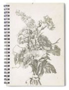 Bouquet Of Different Flowers, Jacques Bailly I, Ca. 1670 , Spiral Notebook