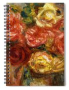 Bouquet Of Roses In A Vase 1900 Spiral Notebook