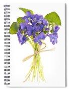 Bouquet Of Violets Spiral Notebook