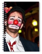Bourbon Street Clown Mime Spiral Notebook