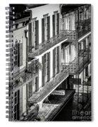 Bourbon Street Morning-bw-nola Spiral Notebook