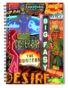 Bourbon Street Neon Spiral Notebook