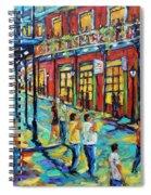 Bourbon Street New Orleans By Prankearts Spiral Notebook