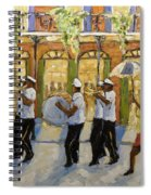 Bourbon Street Second Line New Orleans Spiral Notebook