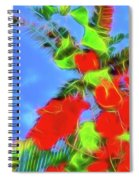 Bougainvillea Glow Spiral Notebook
