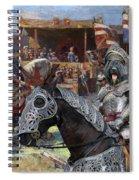 Bouvier Des Flandres - Flandres Cattle Dog Art Canvas Print - Knights Tournir Spiral Notebook