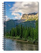 Bow River And Three Sisters Canmore Spiral Notebook