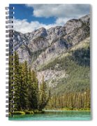 Bow River Banff Alberta Spiral Notebook