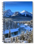 Bow River Parkway Blue Skies Spiral Notebook