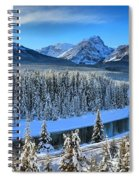 Bow River Valley View Spiral Notebook