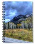 Bow Valley Parkway Banff National Park Alberta Canada Spiral Notebook