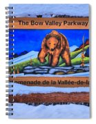Bow Valley Parkway Snowy Entrance Spiral Notebook