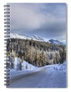 Bow Valley Parkway Winter Conditions Spiral Notebook