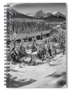 Morant's Curve Black And White Spiral Notebook