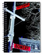Bowery And Ramone Place Spiral Notebook