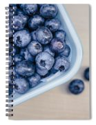Bowl Of Fresh Blueberries Spiral Notebook