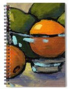 Bowl Of Fruit 4 Spiral Notebook