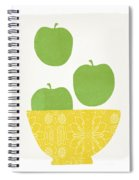 Bowl Of Green Apples- Art By Linda Woods Spiral Notebook
