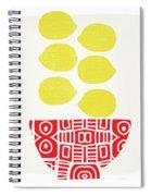 Bowl Of Lemons- Art By Linda Woods Spiral Notebook