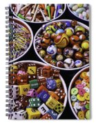 Bowls Full Of Marbles And Dice Spiral Notebook