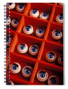 Box Full Of Doll Eyes Spiral Notebook