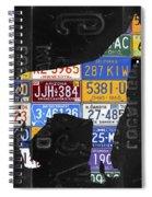 Boxer Dog Pet Owner Love Vintage Recycled License Plate Artwork Spiral Notebook