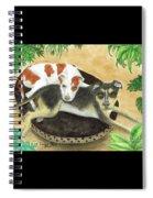 Boxer Hound Cross Dogs Plants Animals Cathy Peek Spiral Notebook