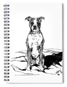 Boxer In The Dirt Spiral Notebook