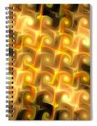 Boxes Yellow Art Spiral Notebook