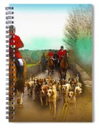 Boxing Day Hunt Spiral Notebook