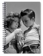 Boy And Girl Sharing A Soda, C.1950s Spiral Notebook