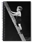 Boy Climbing Tall Ladder, C.1930s Spiral Notebook