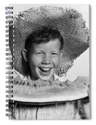 Boy Eating Watermelon, C.1940-50s Spiral Notebook