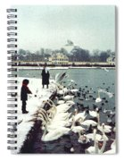 Boy Feeding Swans- Germany Spiral Notebook
