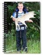 Boy Holding A Moose Antler Spiral Notebook
