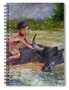Boy In A Carabao Spiral Notebook