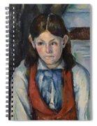 Boy In A Red Vest Spiral Notebook
