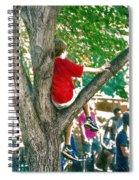 Boy In A Tree Spiral Notebook