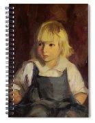 Boy In Blue Overalls Spiral Notebook