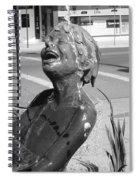 Boy In Fountain Sculture Grand Junction Co Spiral Notebook