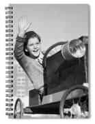 Boy In In Go-cart, C.1940-30s Spiral Notebook