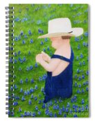 Boy In The Bluebonnets Spiral Notebook