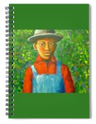 'boy In The Woods' Spiral Notebook