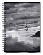 Boy On Shoreline Spiral Notebook