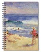 Boy On The Sand Spiral Notebook