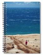 Boy Runs Toward Ocean Spiral Notebook