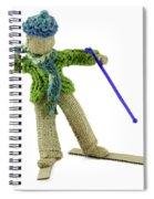 Boy Skiing In Burlap Crafts Spiral Notebook