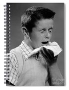 Boy Sneezing Spiral Notebook