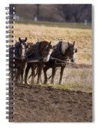 Boy Waiting With Horses Spiral Notebook