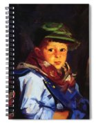 Boy With A Green Cap Also Known As Chico 1922 Spiral Notebook